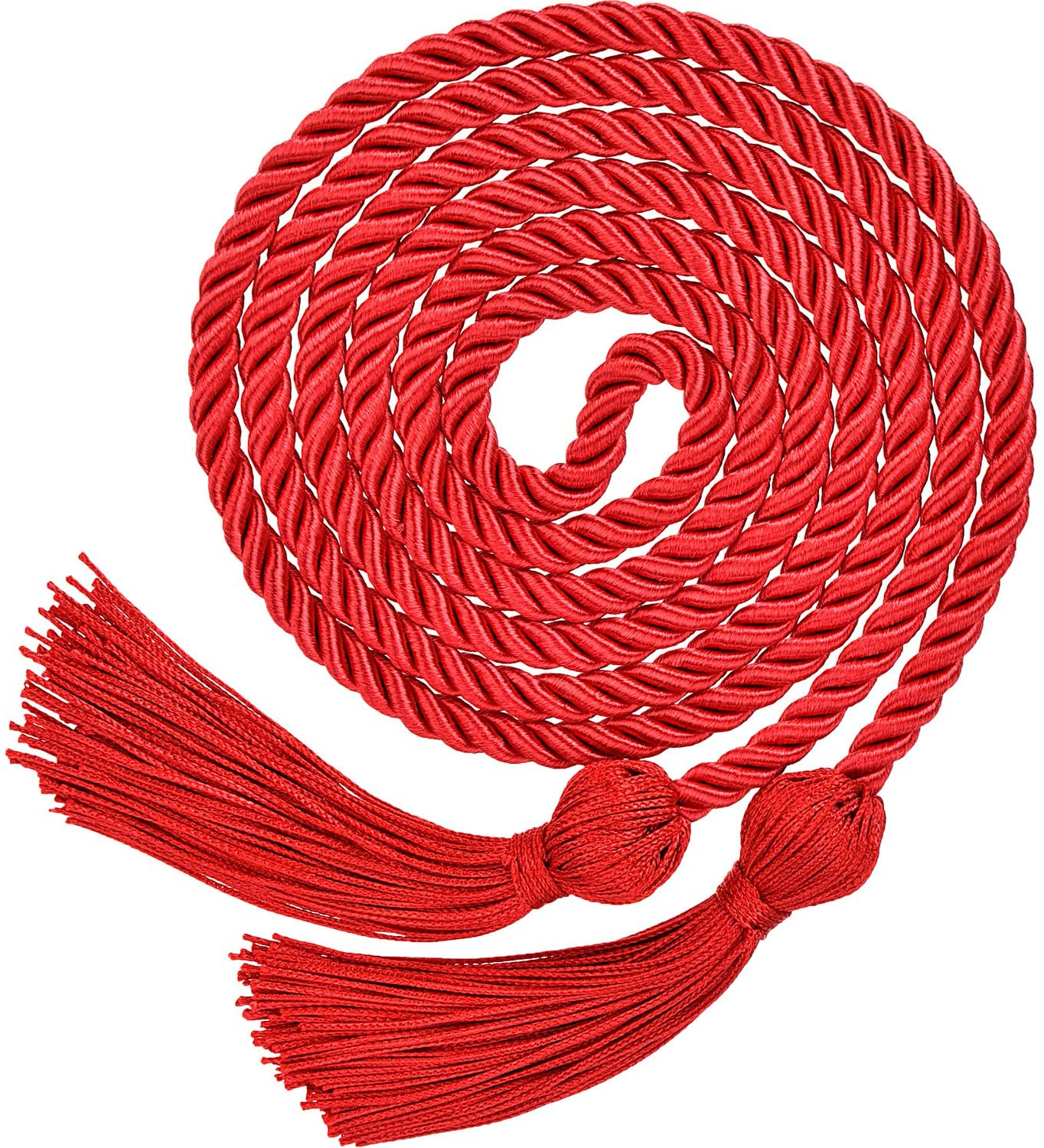 TecUnite Graduation Honor Cords Tassels Cord Polyester Yarn Honor Cord for Bachelor Gown for Graduation Students (Red)