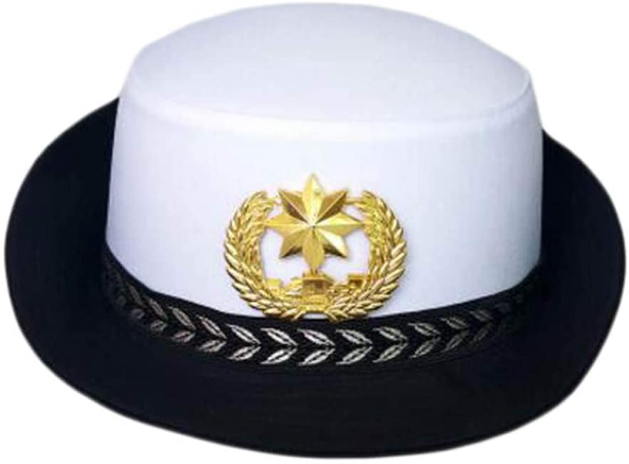 George Jimmy Traffic Cop Hat Police Cap for Women Sailor Cap Costume Accessories Cosplay-A05