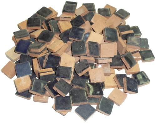 Mosaix Mosaic Tiles Ceramic Glazed 10 x 10 x 3 mm 70 g ~ 150 pcs. Night Blue