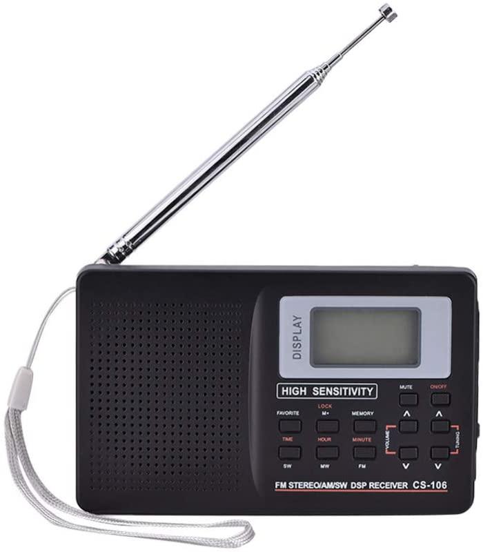 CWWHY Portable Radio FM/AM/SW/LW/TV Sound Full Frequency Receiver Receiving Radio Battery Powered Travel Transistor Radio Stereo Digital Receiver