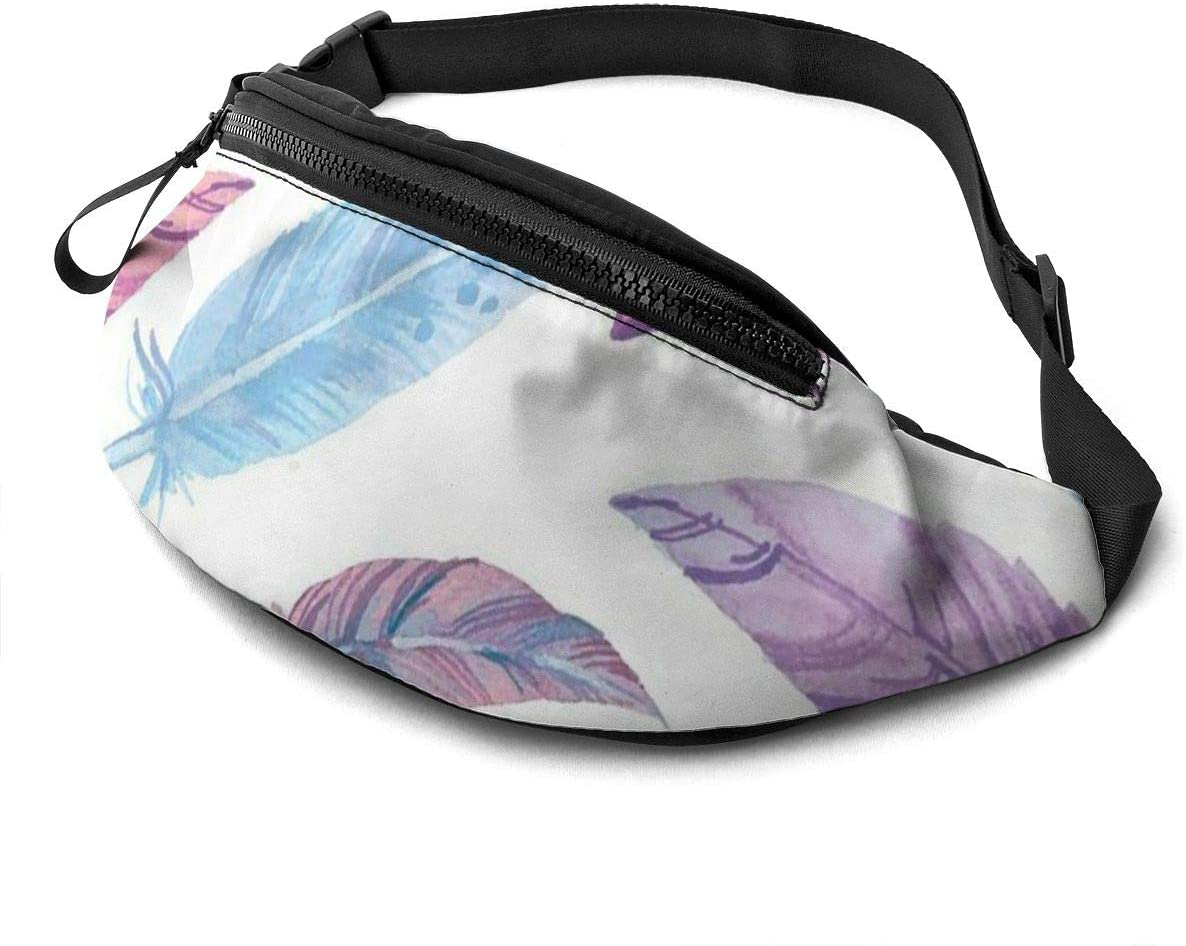 This is a color flamingo collage map Fanny Pack for Men Women Waist Pack Bag with Headphone Jack and Zipper Pockets Adjustable Straps