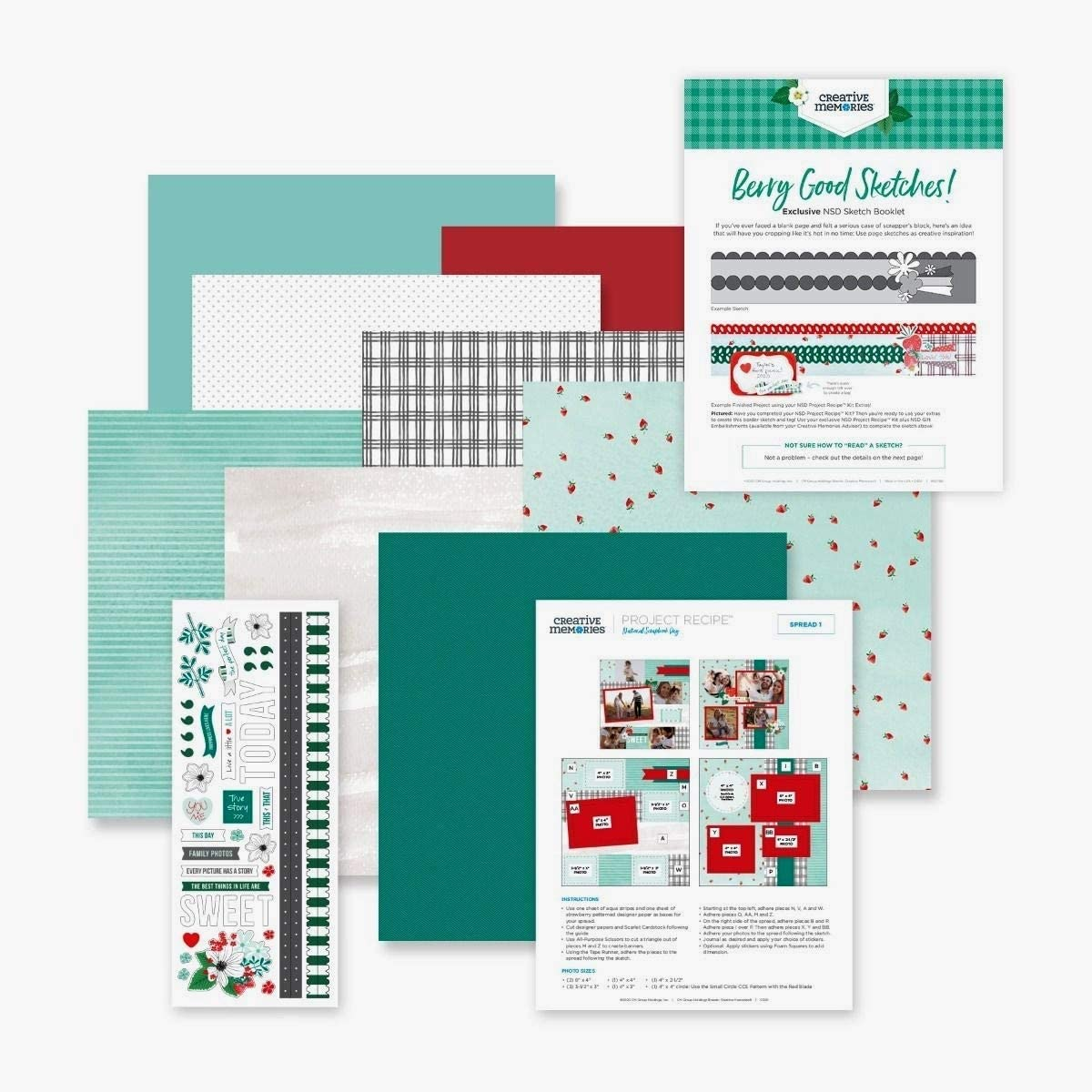 Creative Memories NSD 2020 Project Recipe Kit National Scrapbook Day Strawberry