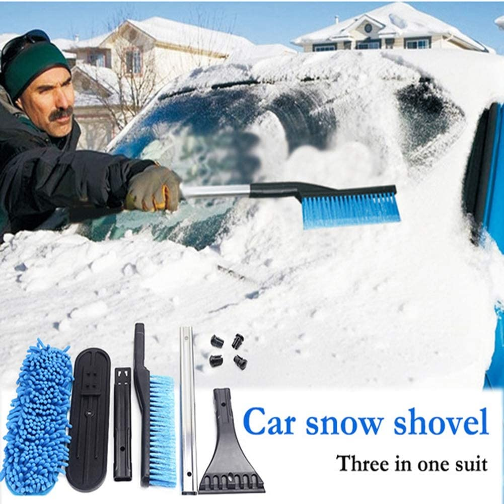 LUCKYYAN Car Multifunctional Snow Shovel Three in one Removable for Audi a4 a3 a6 VW Polo Passat Suzuki Vitara Swift Accessories