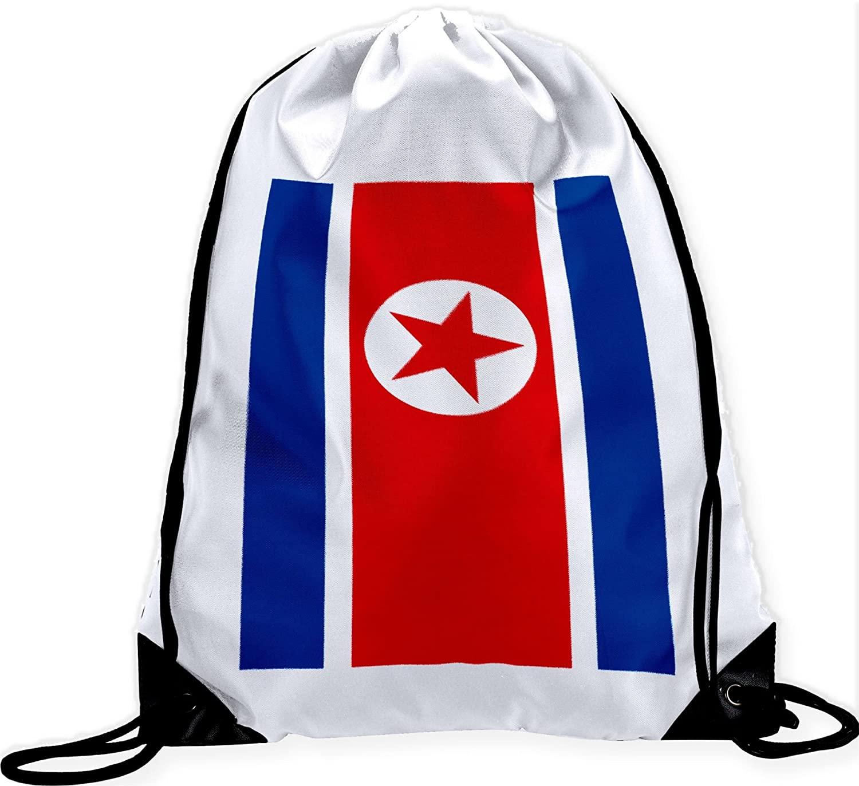 ExpressItBest Large Drawstring Bag - Flag of North Korea (Korean)