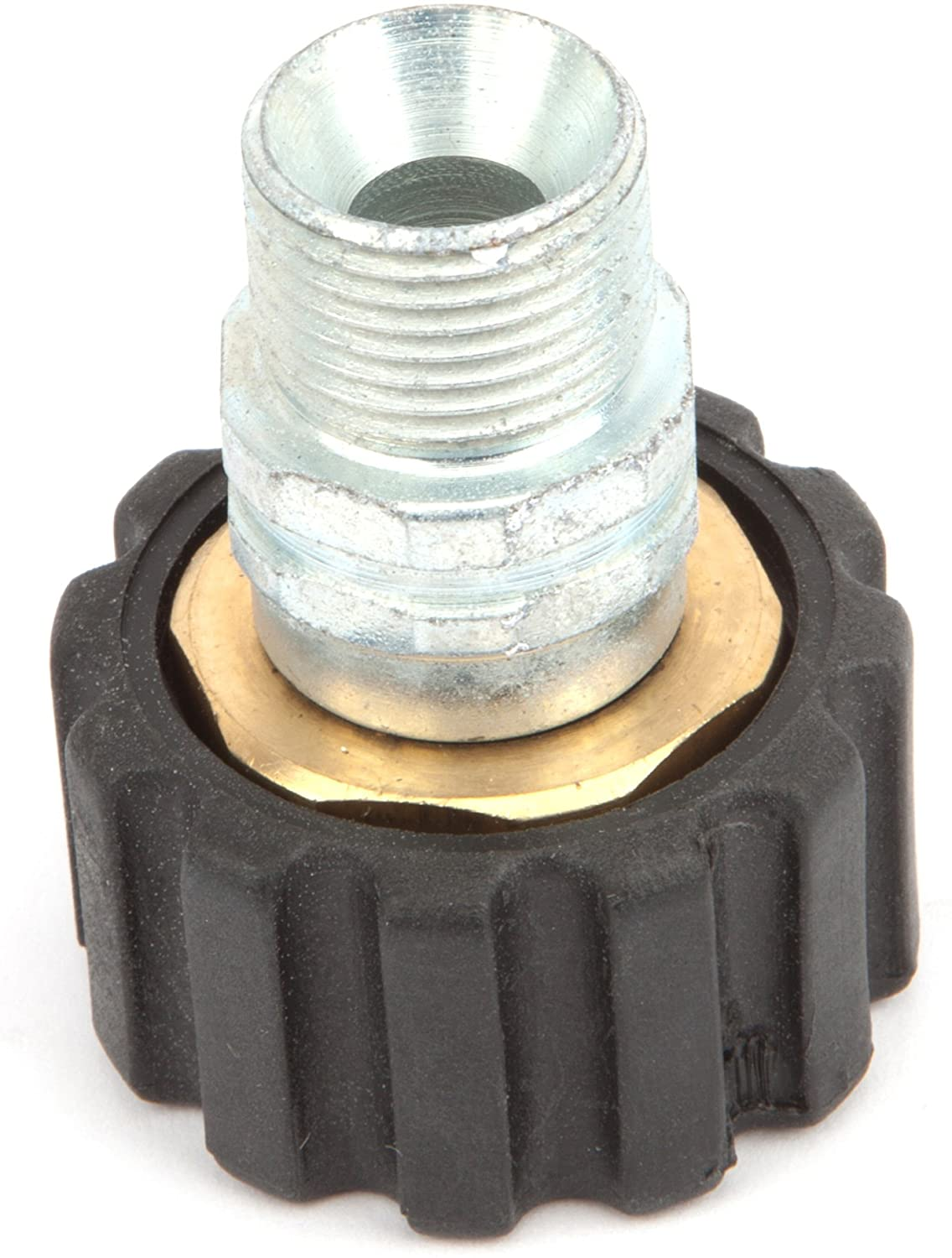 Forney 75109 Pressure Washer Accessories, Male Screw Coupling, M22F to 3/8-Inch Male NPT