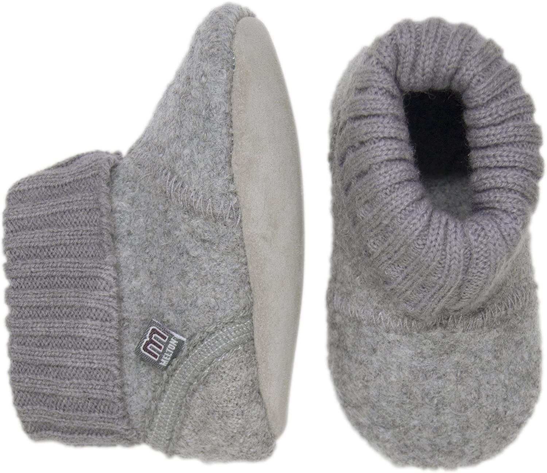 Melton Baby Wool High-Top Booties