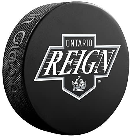 Inglasco AHL Ontario Reign Official Souvenir Pucksouvenir Puck, Black, One Size
