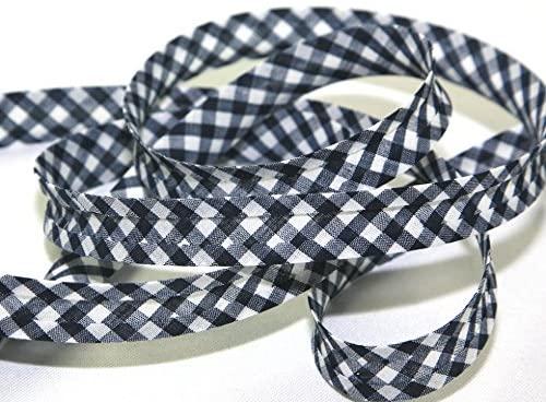 Minerva Crafts Gingham Cotton Bias Binding Tape - per 3 metres