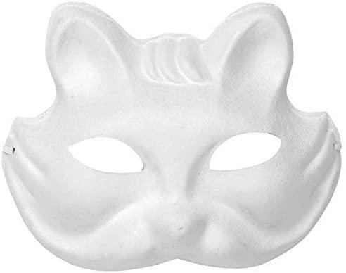 Glorex Cardboard Mask Cat White 27x 8x 4cm