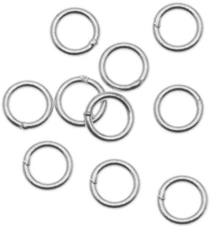Beadaholique Sterling Silver Closed 5mm Jump Rings 21 Gauge (20)