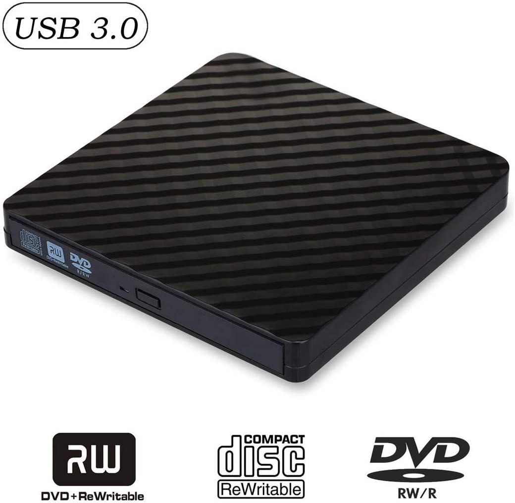 HIOD External CD/DVD Drive Optical Drive USB 3.0 DVD +/- RW Burner Portable Rewriter for Windows 10/ SE/ME/XP/Win 7/Win 8/Mac OS