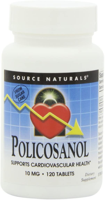 Source Naturals Policosanol 10mg, 120 Tablets