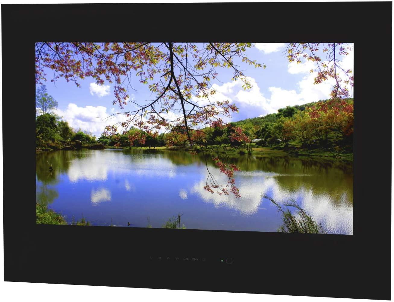 Waterproof TV for Bathroom/Shower/Kitchen/Living Room, Black Frame, AVEL (23.8