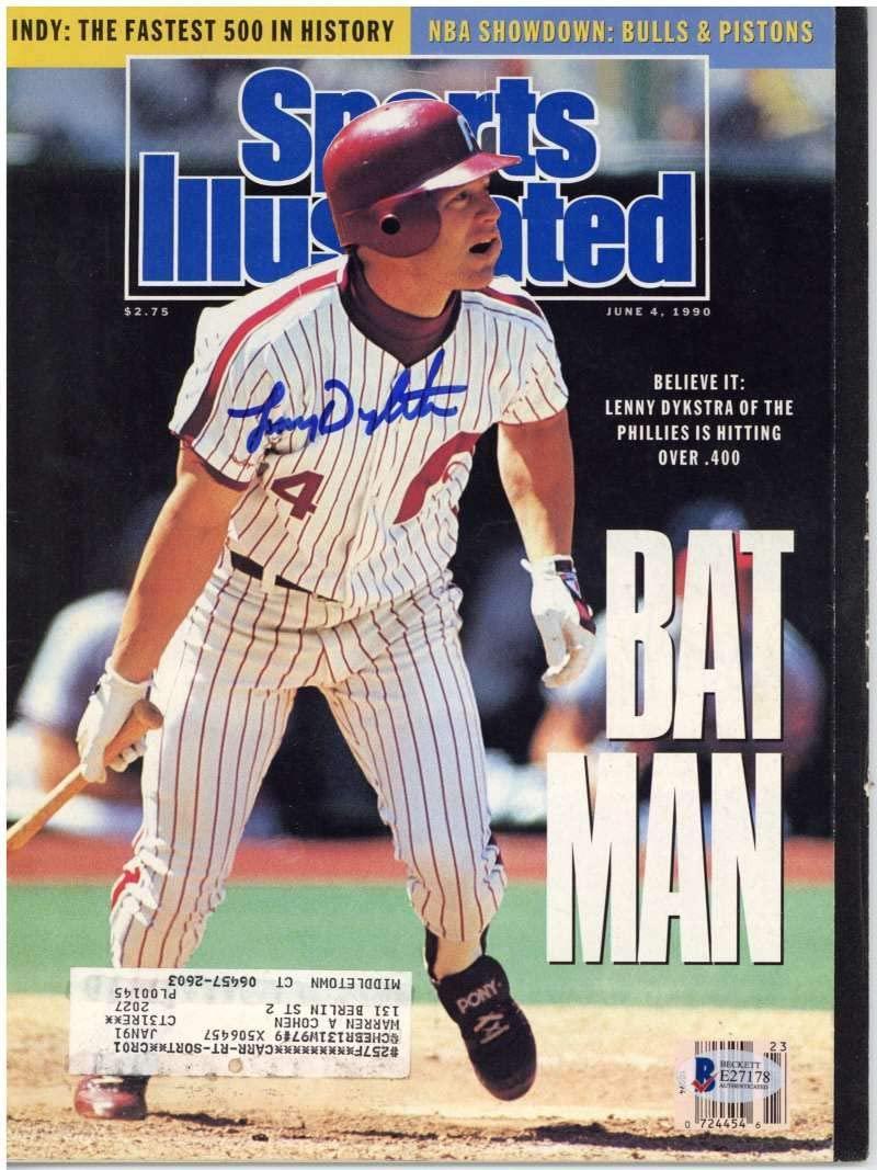 Lenny Dykstra Signed Autographed Sports Illustrated Magazine Beckett BAS