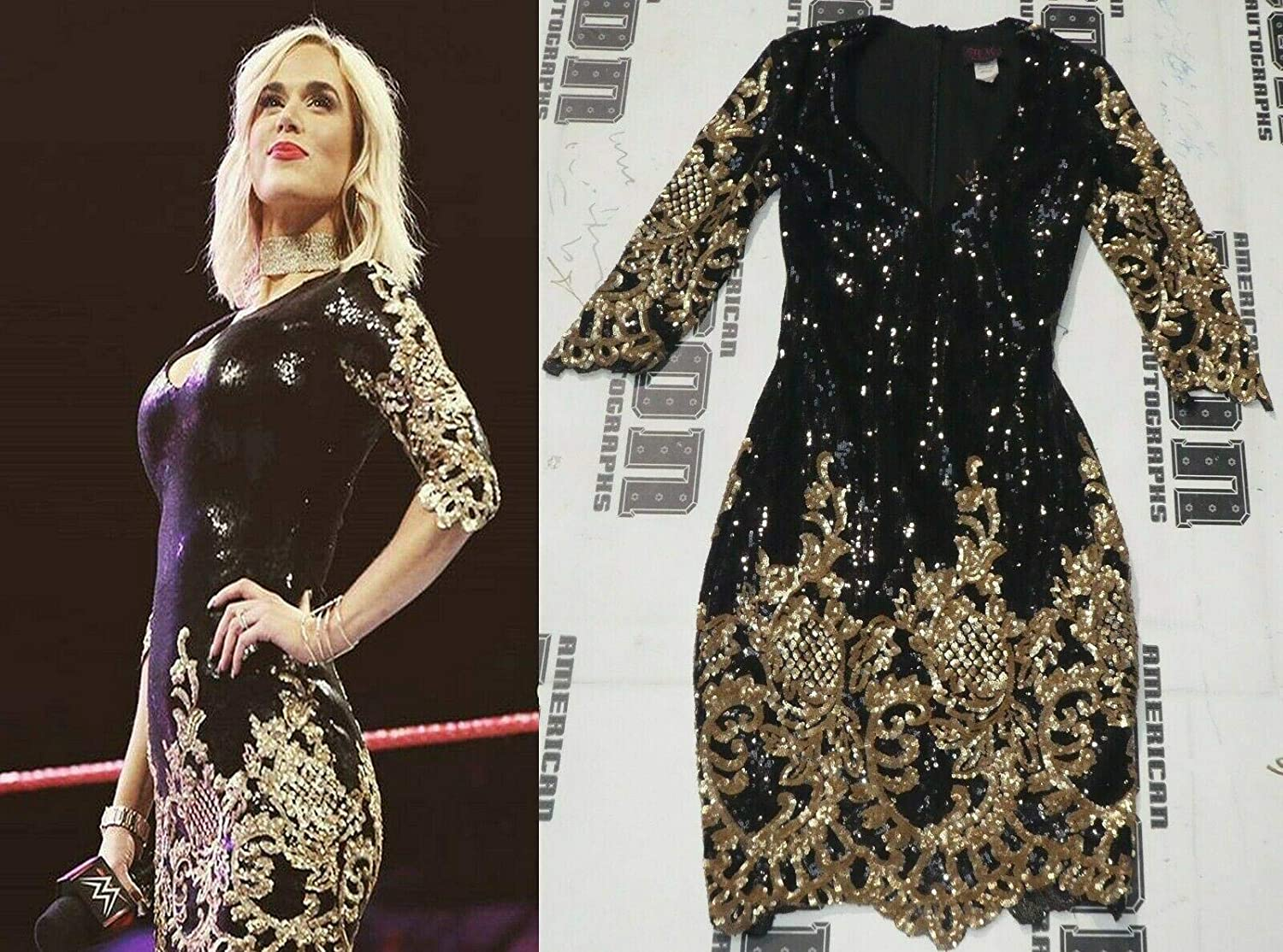 Lana Signed WWE Raw Ring Worn Used Dress BAS Beckett COA Total Divas Autograph 2 - Autographed Wrestling Miscellaneous Items