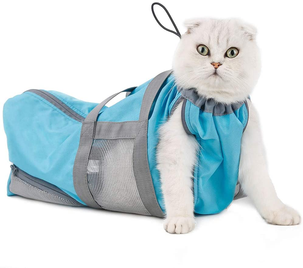 ULIGOTA Cat Grooming Restraint Bag for Nail Trimming Multifunctional Cat Bag Carrier