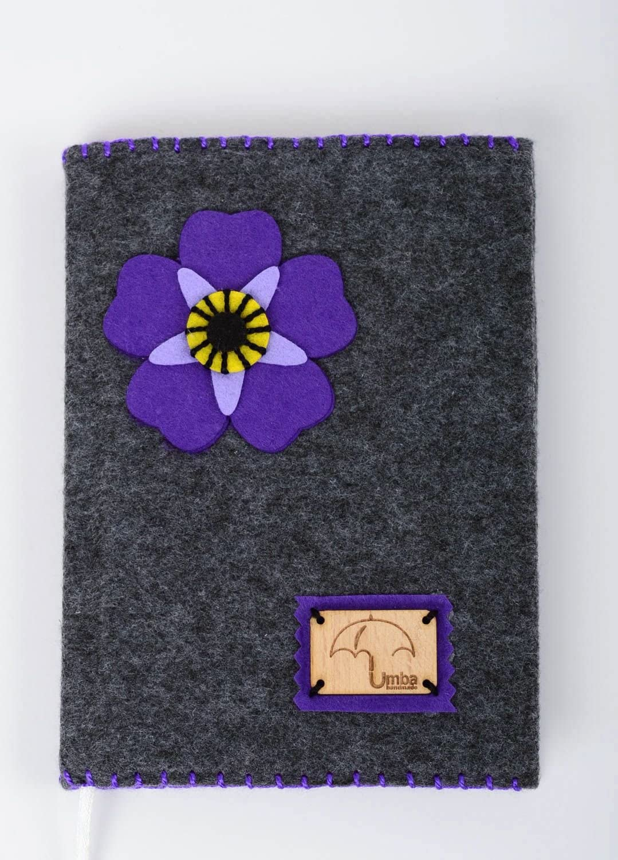 Handmade stylish unique notepad designer textile sketchbook present for friend