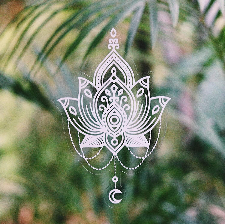 Gypsy Dreaming Beautiful Hand Designed Mandala Sticker White Lotus Flower - 6