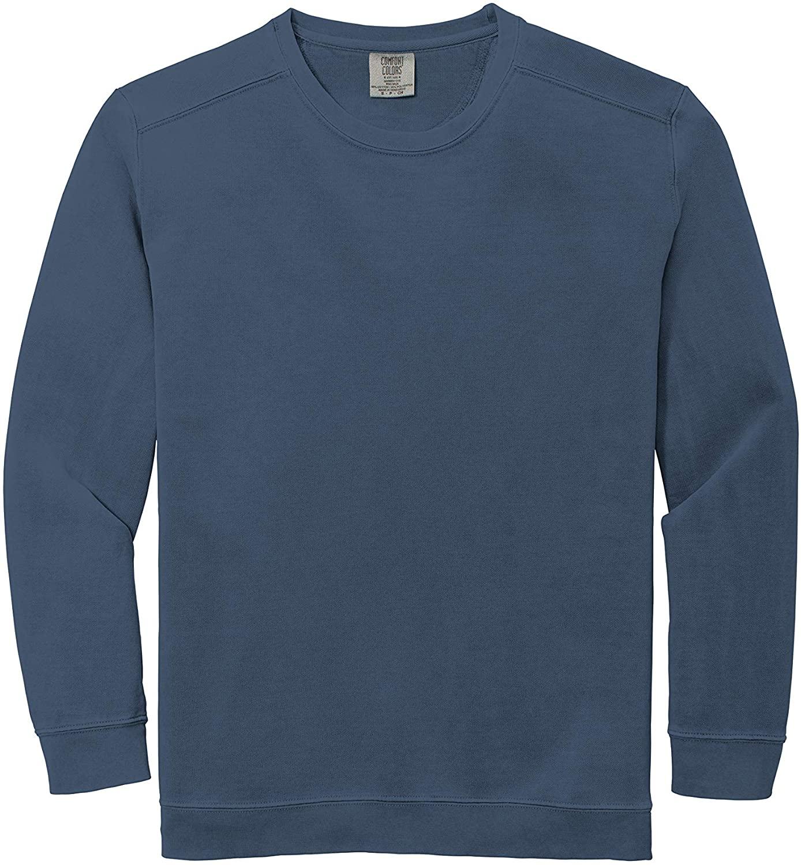 INK STITCH Unisex 1566 Garment Dyed Comfort Colors Sweatshirts - Blue Jean (M)