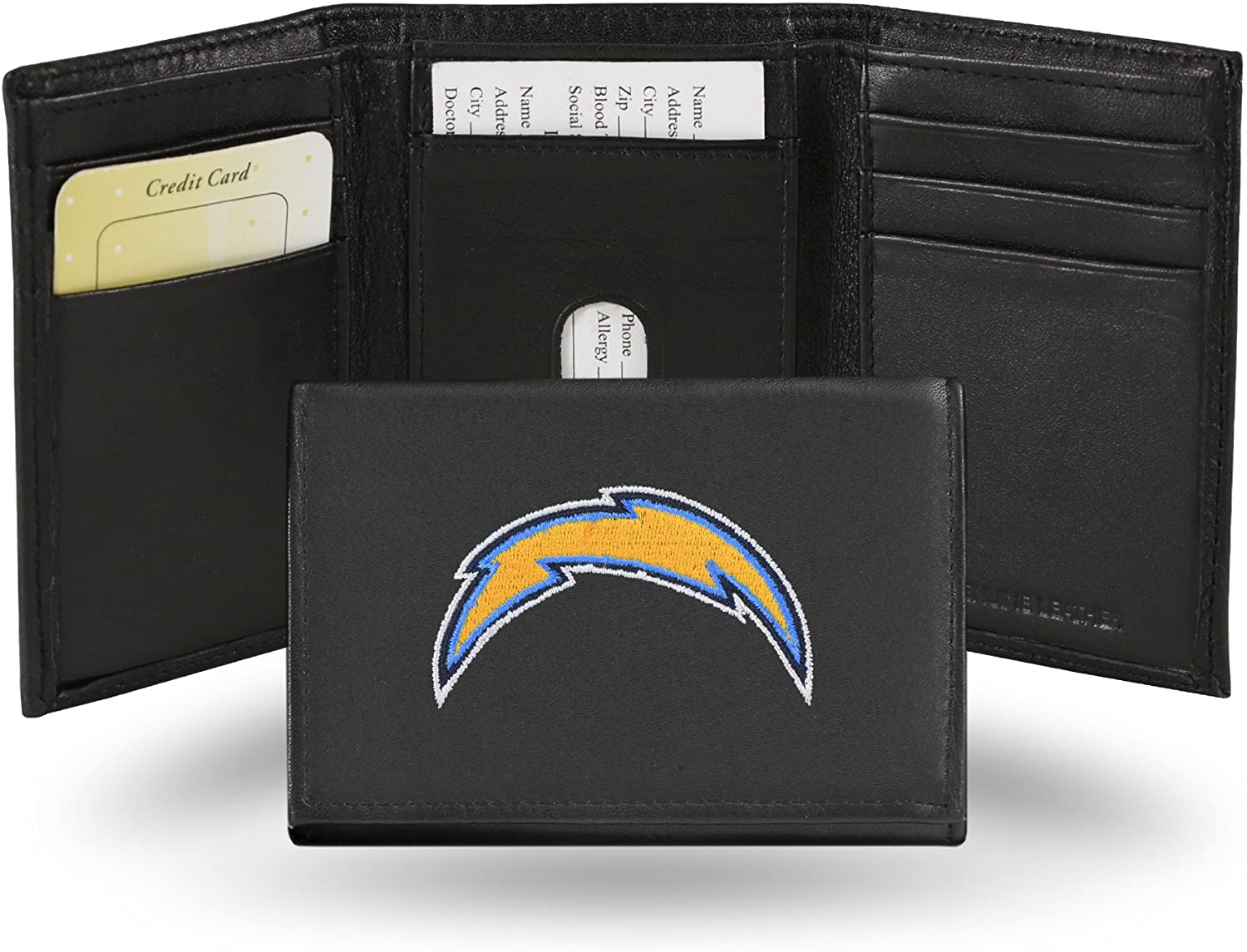Rico San Diego Chargers Embroidered Tri Fold Wallet