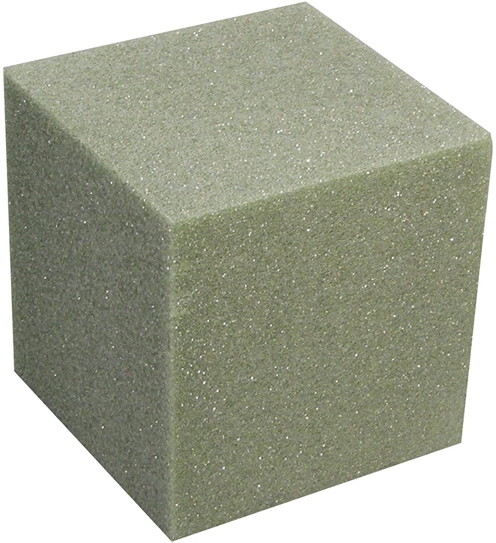 FloraCraft Styrofoam Cube 4.8 Inch x 4.8 Inch x 4.8 Inch Green
