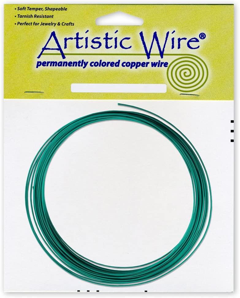 Beadalon Artistic, 16 Gauge, Kelly Green, 25 ft (7.6 m) Craft Wire