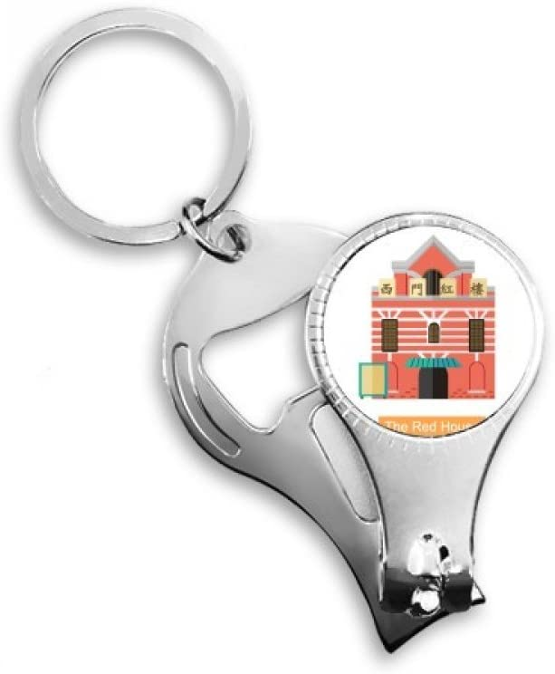Taiwan Attractions The Red House Nail Nipper Ring Key Chain Bottle Opener Clipper