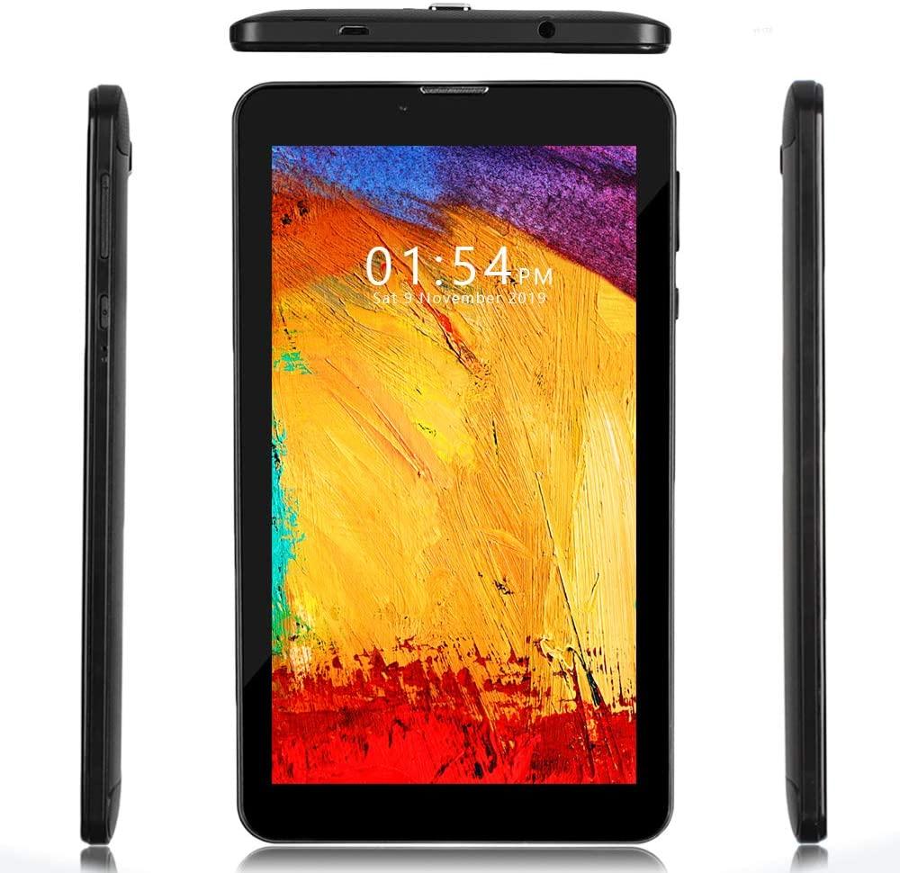 Indigi GSM Unlocked Official Android 4G LTE 7-inch Tablet & 2SIM Phone [QUADCORE 2GB RAM/16GB Storage] (BK)