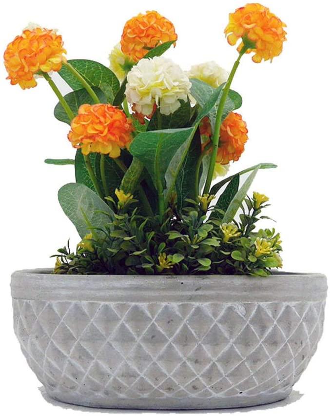 European Concrete Flower Pot Silicone Mold,DIY Garden Pot Mold