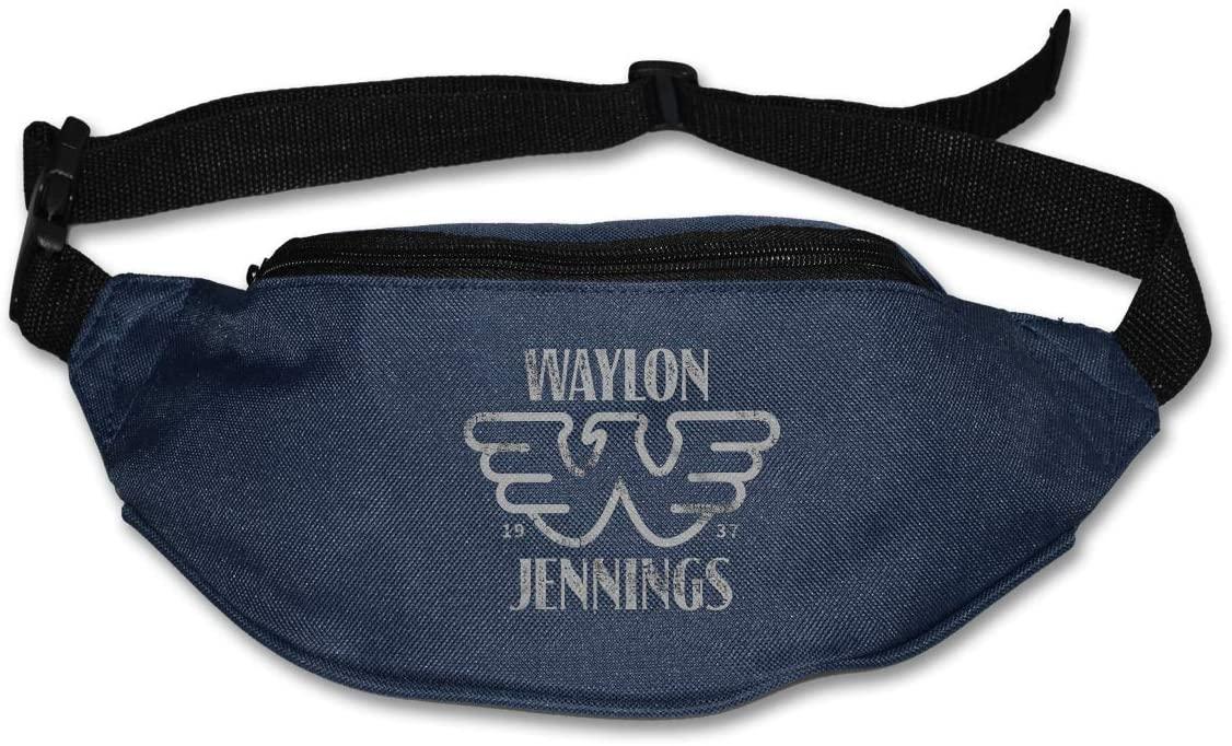 Sunlenvai Waylon Jennings 1937 Pack Runners Belt Fanny Pack Running Belt Waist Navy