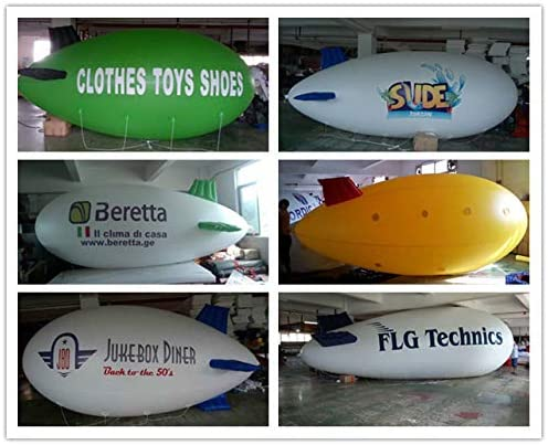 Air-Ads 4M 13ft Giant Inflatable Advertising Blimp/Flying Helium Balloon/Your Logo (PVC)