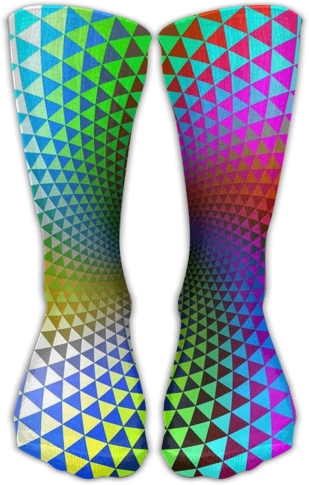 Pin-1 Polygon Triangular Graphic Athletic Socks Novelty Running Long Sock Cotton Socks
