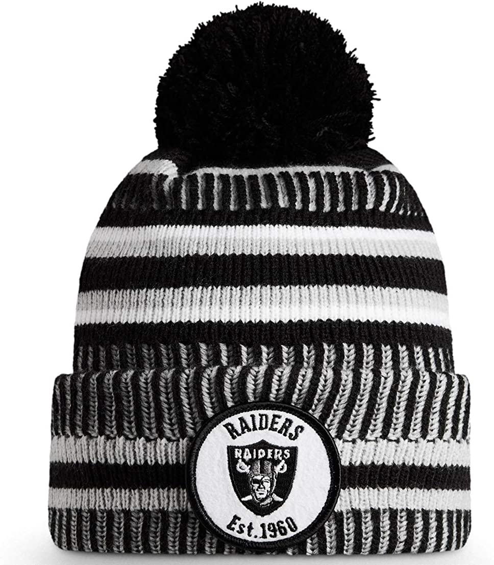 New Era NFL Oakland Raiders Mens Beanie Black