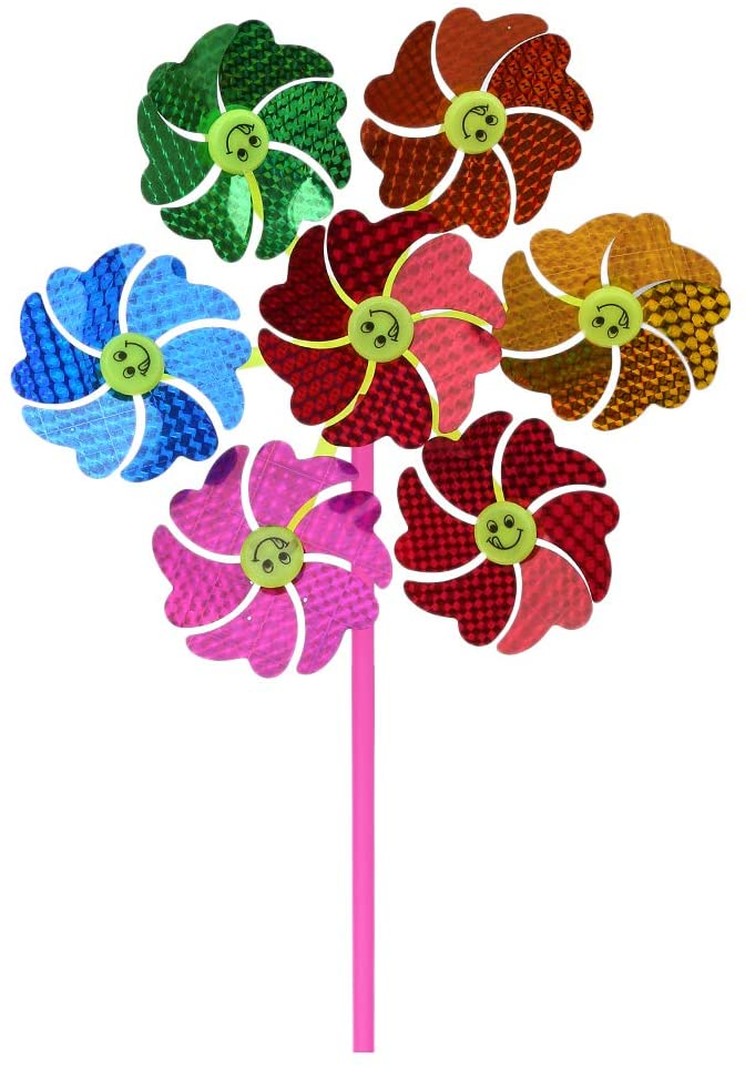 Sixinu Windmill Wind Spinner Kids Children Toys Pinwheel Glitter Sequin Glow Attractive Funny Garden Party Decoration Home Ornaments Outdoor Yard Toy