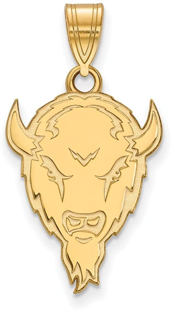 Solid 14k Yellow Gold Official Marshall University Large Pendant Charm - 25mm x 15mm