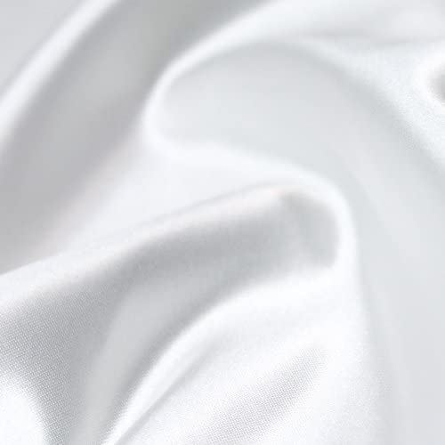 58 Heavy White Bridal Satin Fabric by The Yard - 1 Yard