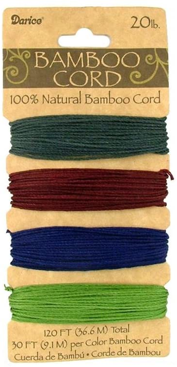 Darice Bamboo Cord 20lb 120'-Jewel