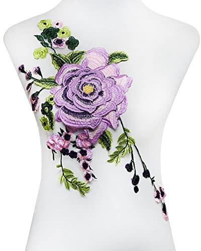 3D Violet Green Floral Patches 20.67