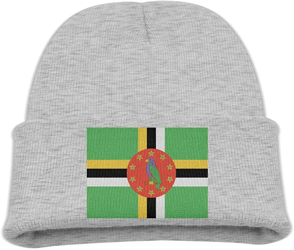 ZWZ Flag Of Dominica Kid's Hats Winter Funny Soft Knit Beanie Cap Children Unisex
