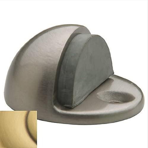 Baldwin 4000 1 Inch Half Dome Brass Door Bumper, Satin Brass and Brown