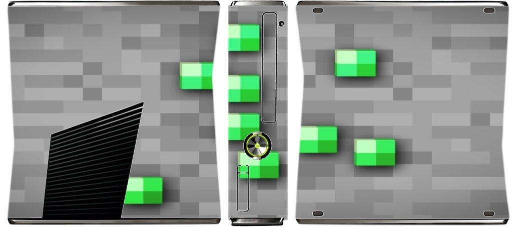 Emerald Ore Xbox 360 Slim (2010) Vinyl Decal Sticker Skin by Demon Decal