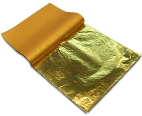 Imitation Gold Leaf #2.5 Color (4 BOOKLETS OF 100 Sheets / Loose Type)