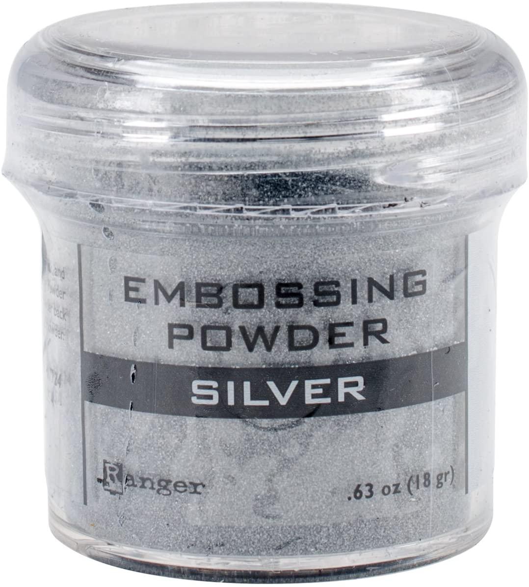 Ranger Embossing Powder, 0.63 oz Jar, Silver