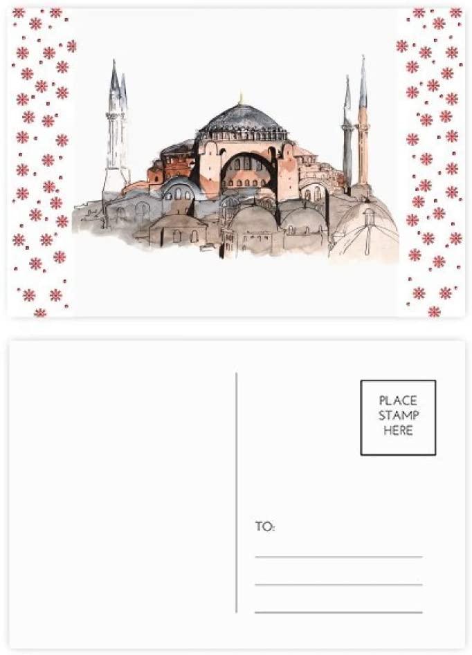 Turkey Hagia Sophia Istanbul Christmas Christmas Flower Celebration Postcard Blessing Mailing Card