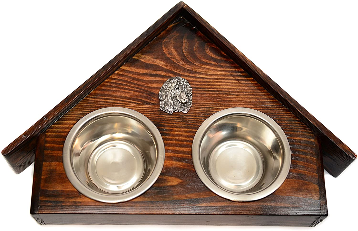 Afghan Hound, a Dogs Bowl with a Relief from ArtDog