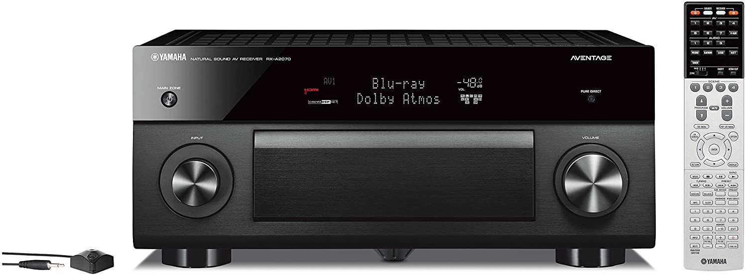 Yamaha AVENTAGE Audio & Video Component Receiver, Black (RX-A2070BL), Works with Alexa