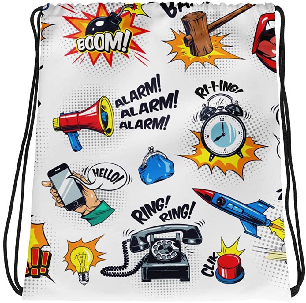 Comic Series Drawstring bag