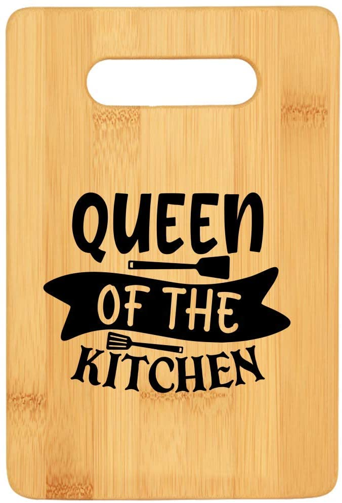 Queen Of The Kitchen Bamboo Cutting Boards For Mom And Wife Christmas Gifts Ideas