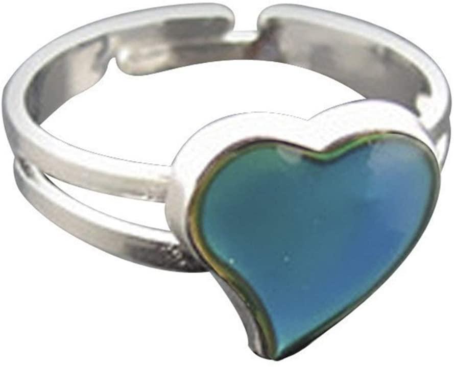 CJESLNA Color Changeable Heart Mood Ring