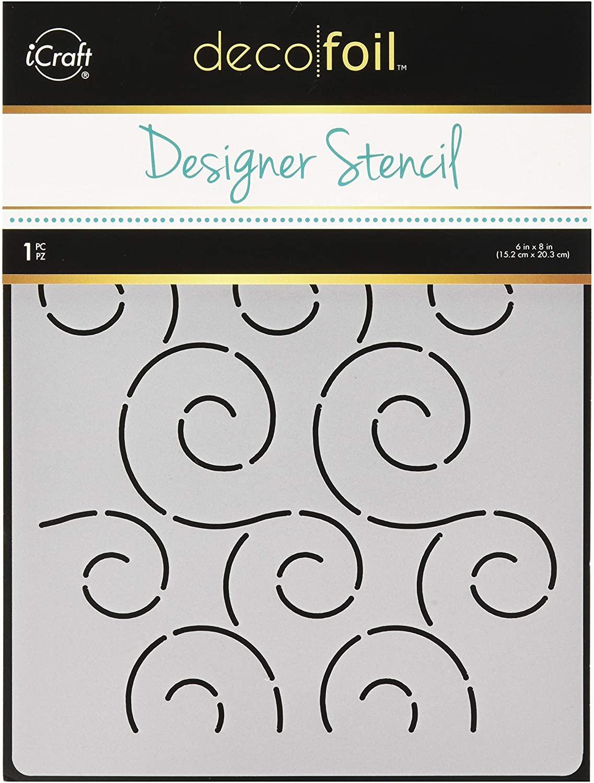 iCraft Deco Foil Designer Stencil 6x8 Swirls
